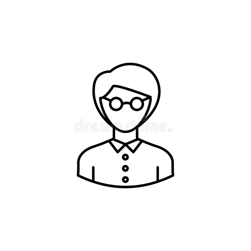 Avatar teacher outline icon. Signs and symbols can be used for web logo mobile app UI UX royalty free illustration