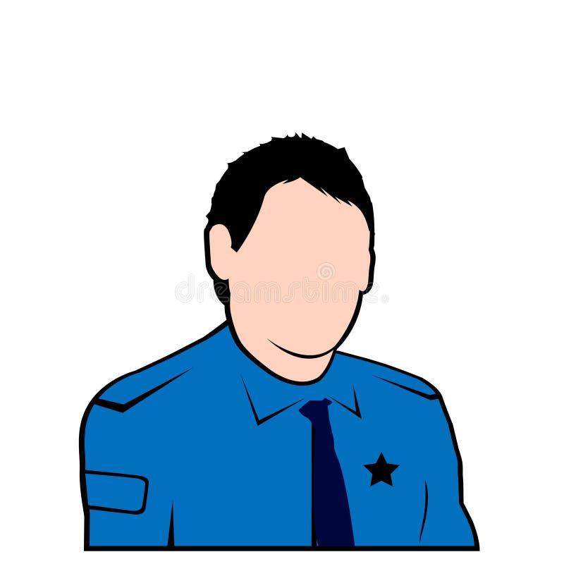 avatar twarzy policjanta wektor ilustracja wektor