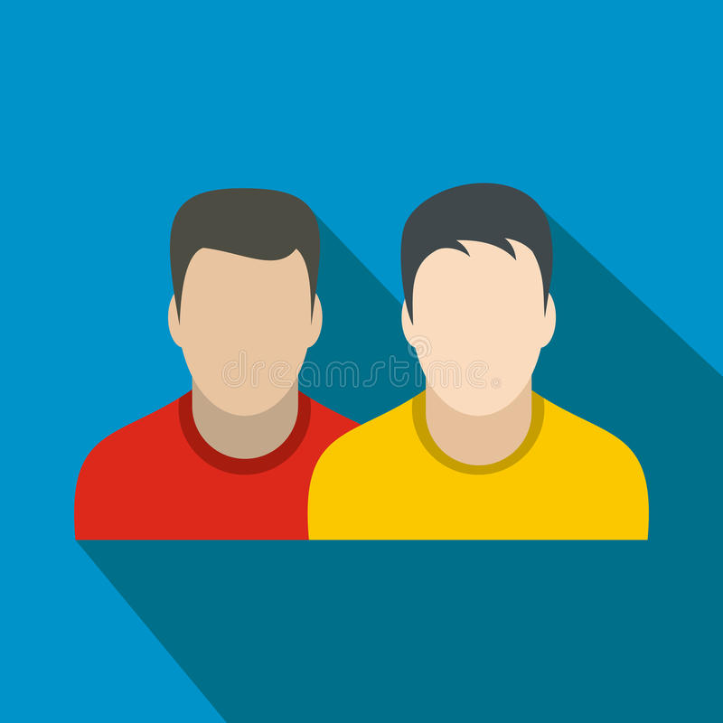 Avatar twee mensen vlak pictogram stock illustratie