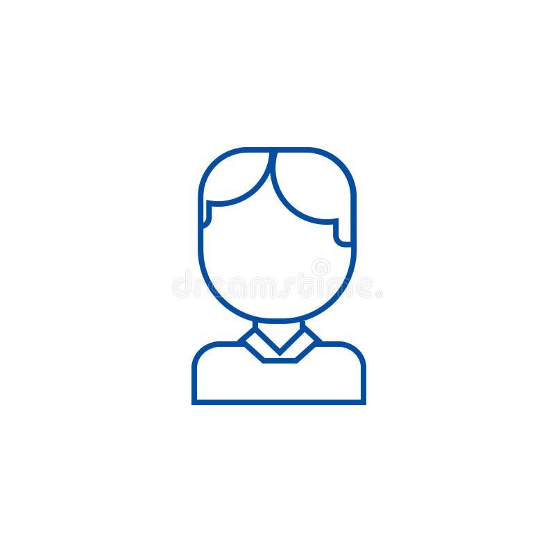 Avatar van de bureaumens het concept van het lijnpictogram Avatar van de bureaumens vlak vectorsymbool, teken, overzichtsillustra vector illustratie