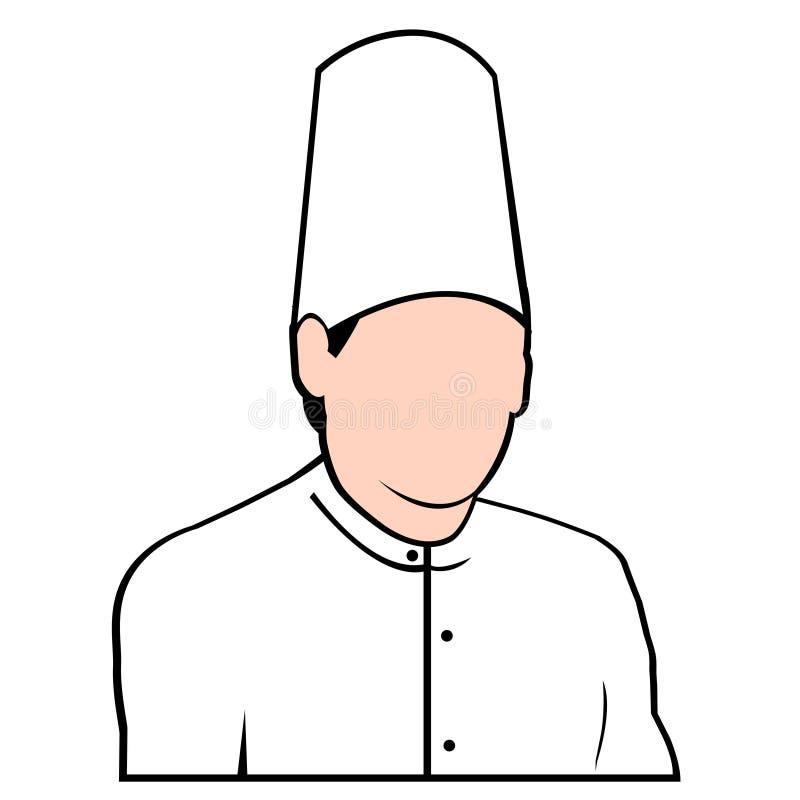 Avatar van de chef-kok het gezicht vectored vector illustratie