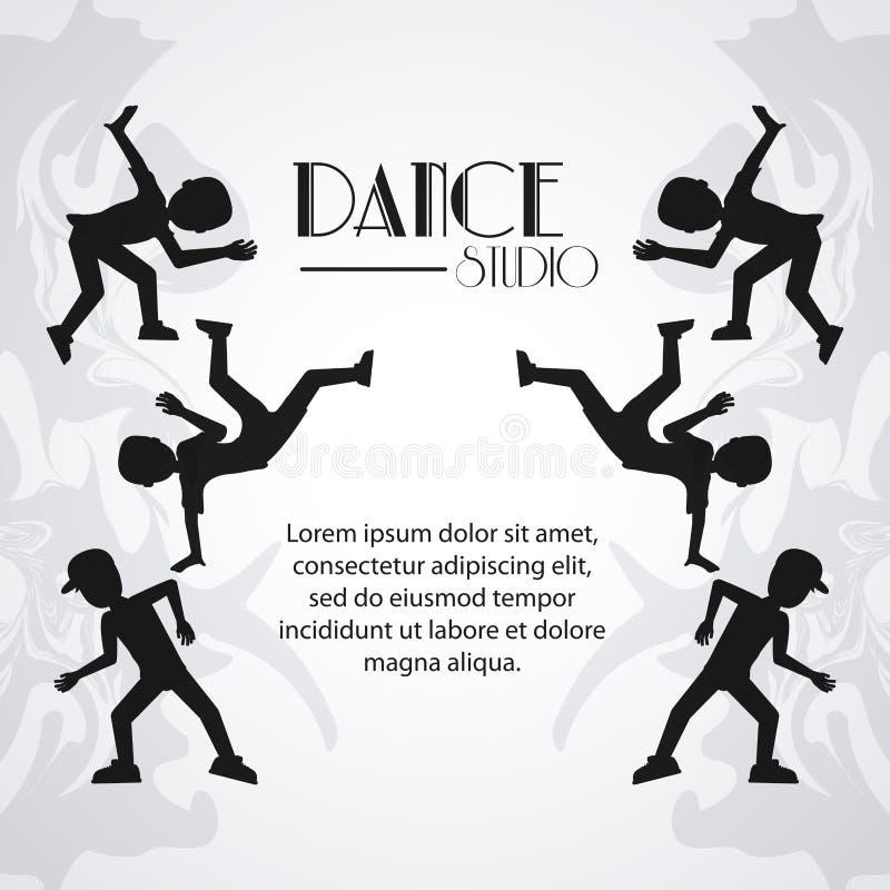 Avatar van de dansstudio dansersontwerp vector illustratie
