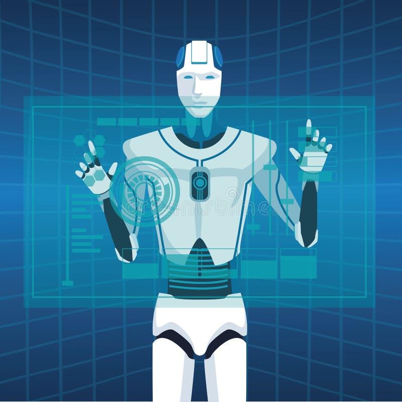 Avatar van de Humanoidrobot stock illustratie
