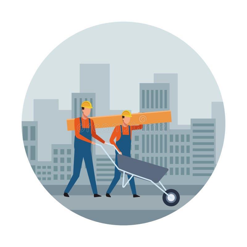Avatar van het bouwgroepswerk vector illustratie