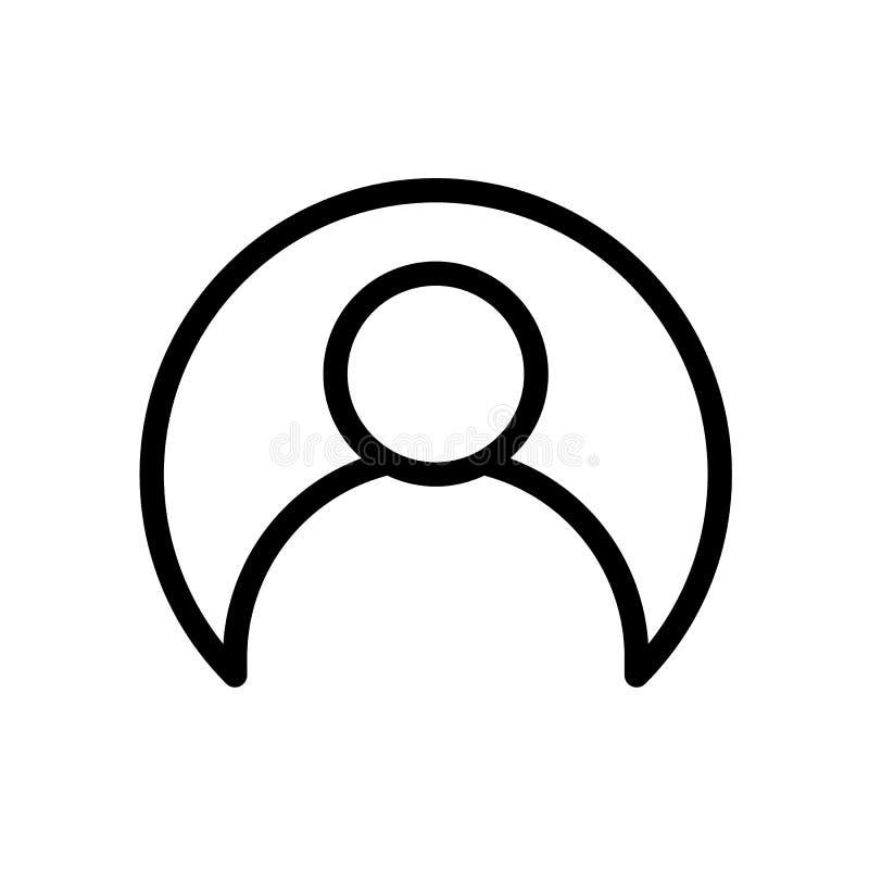 Avatar van het gebruikersprofiel zwart lijnpictogram stock illustratie