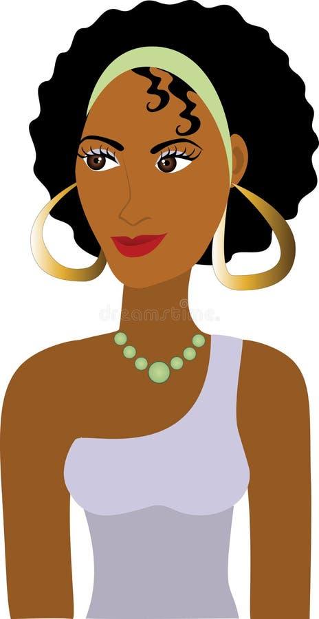 Avatar van het Meisje van Afro stock illustratie