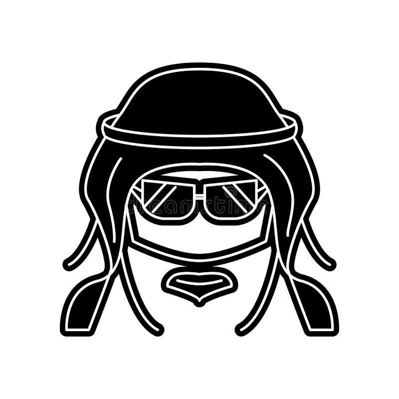 avatar van het moderne Arabische pictogram Element van Arabier voor mobiel concept en webtoepassingenpictogram Glyph, vlak pictog stock illustratie