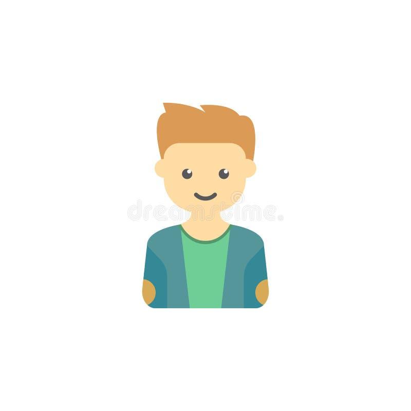 avatar van tiener gekleurd pictogram Element van kinderenpictogram voor mobiel concept en Web apps Gekleurde avatar van tiener ka vector illustratie