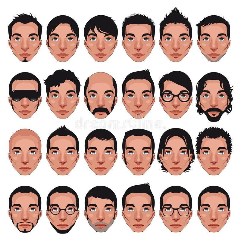 Avatar, verticales d'hommes. illustration libre de droits