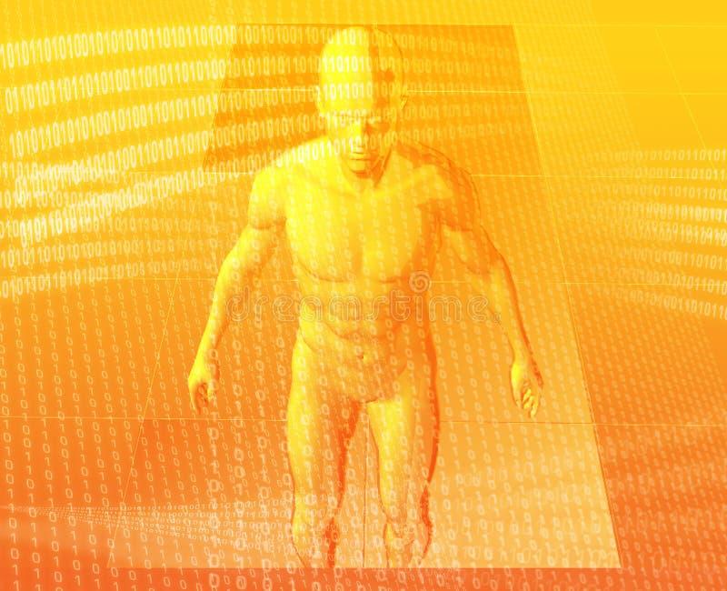 Avatar virtual ilustração stock