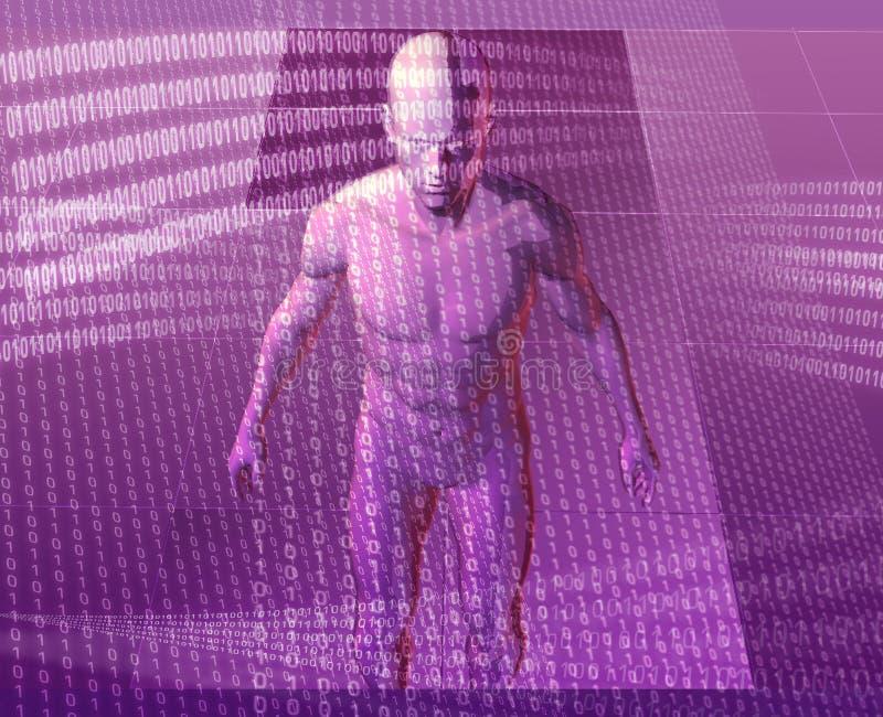 avatar virtuel illustration de vecteur