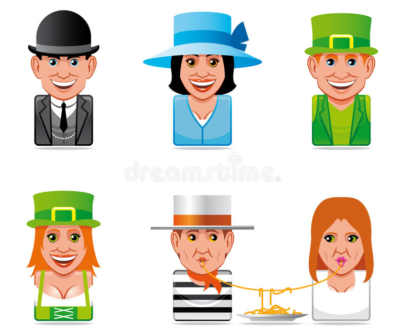 Download Avatar World People Icons(english,irish,italian) Stock Illustration - Illustration: 15687435