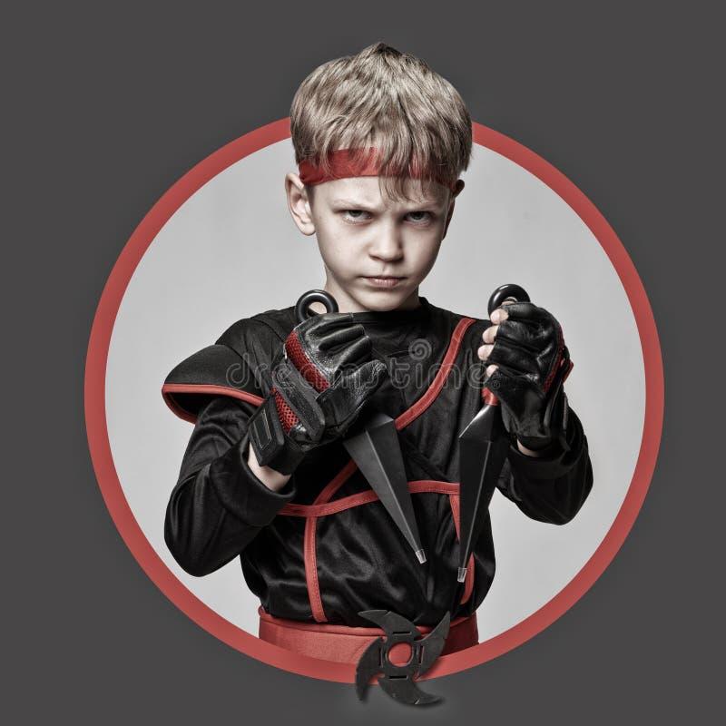 Avatar of young ninja stock photos