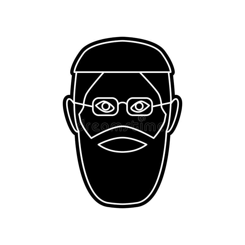 Avatara der arabischen Ikone Element von arabischem f?r bewegliches Konzept und Netz Appsikone Glyph, flache Ikone f?r Websiteent vektor abbildung