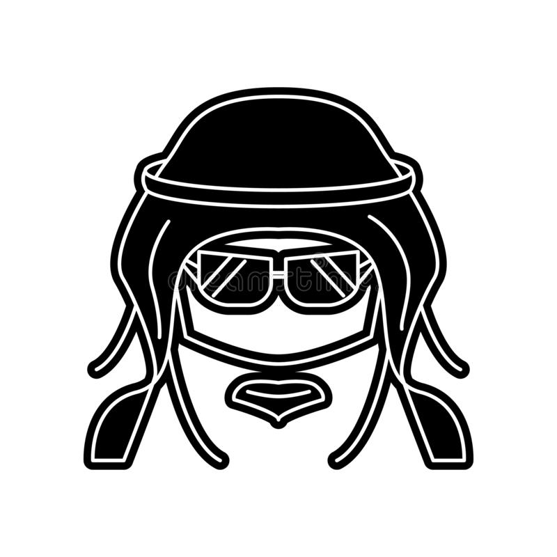 Avatara der modernen arabischen Ikone Element von arabischem f?r bewegliches Konzept und Netz Appsikone Glyph, flache Ikone f?r W stock abbildung