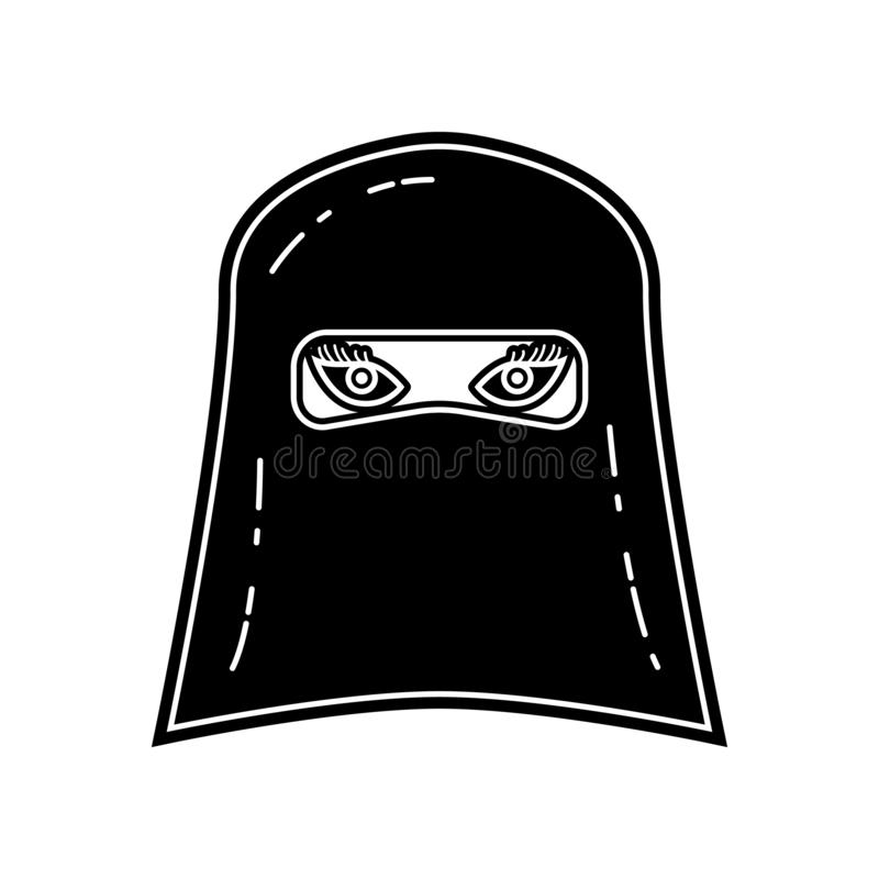 Avatara einer arabischen Frauenikone Element von arabischem f?r bewegliches Konzept und Netz Appsikone Glyph, flache Ikone f?r We stock abbildung