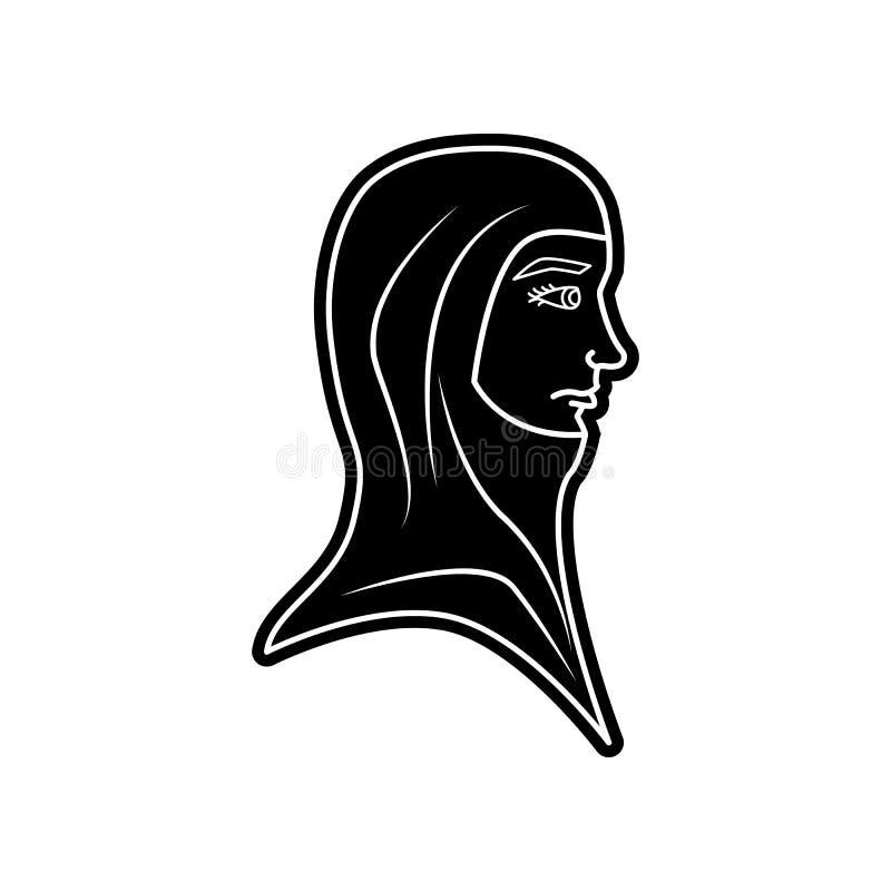 Avatara einer arabischen Frauenikone Element von arabischem f?r bewegliches Konzept und Netz Appsikone Glyph, flache Ikone f?r We lizenzfreie abbildung