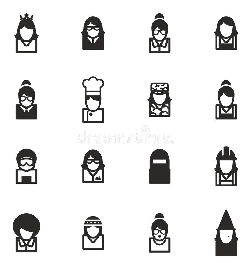 Avatara-Ikonen stellten 6 ein lizenzfreie abbildung