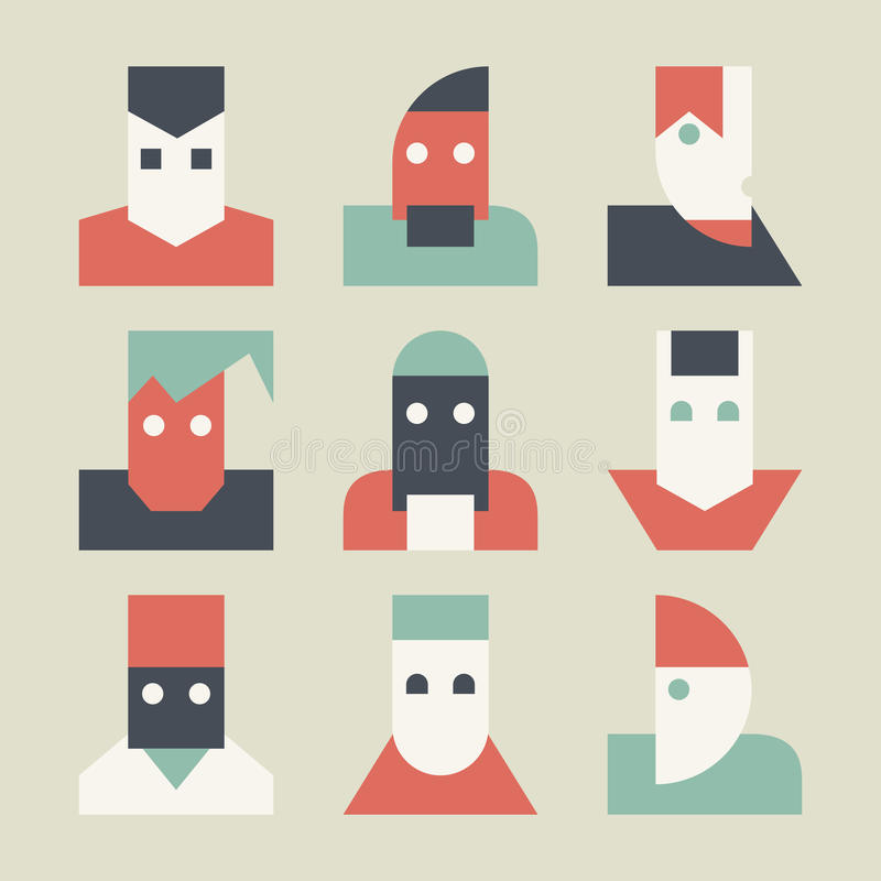 Avatares para la red social libre illustration