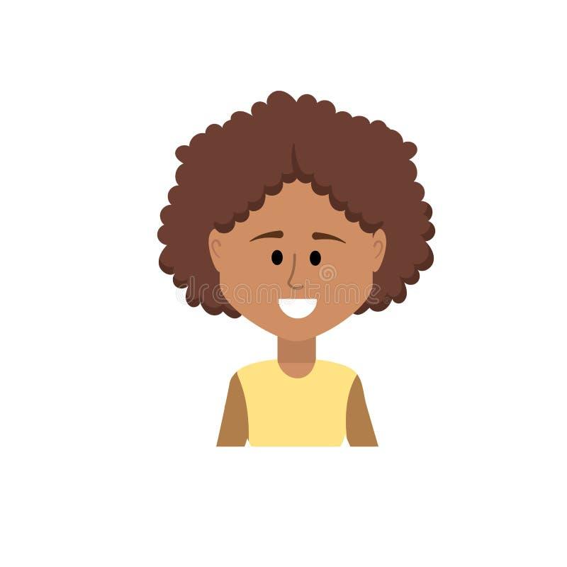 Avatarkvinna med frisyr- och blusdesign vektor illustrationer