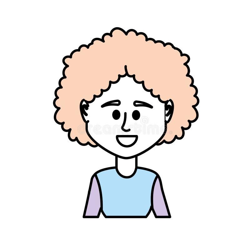 Avatarkvinna med frisyr- och blusdesign royaltyfri illustrationer