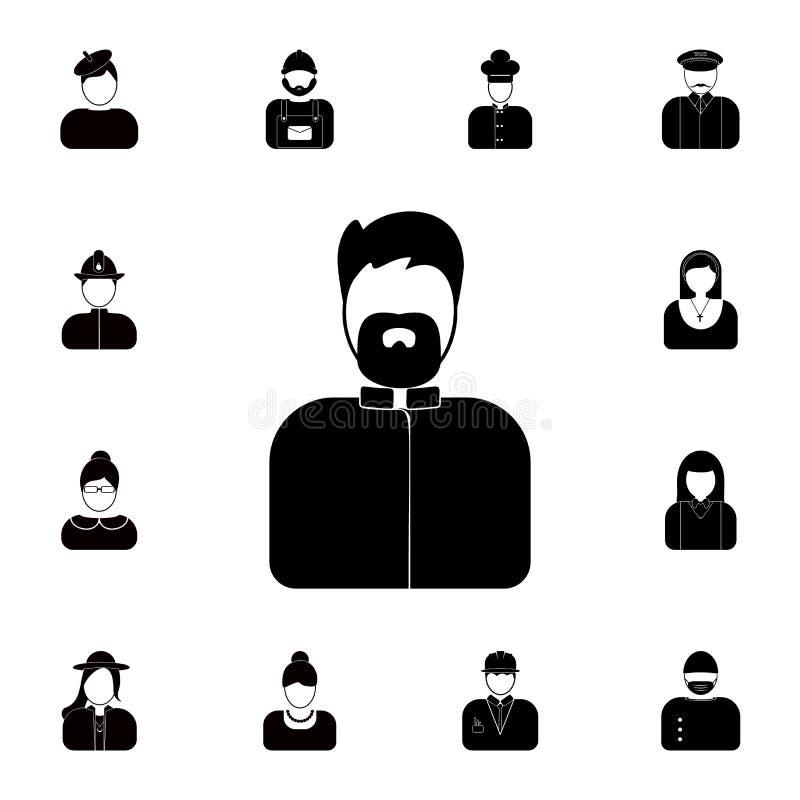 avatarprästsymbol Detaljerad uppsättning av avatars av yrkesymboler Högvärdig kvalitets- symbol för grafisk design En av samlings stock illustrationer