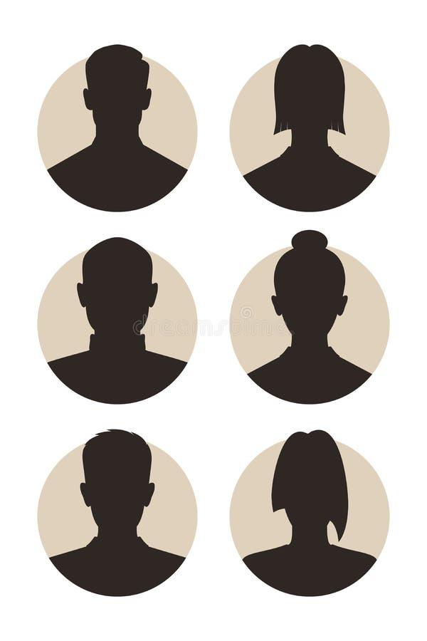 Avatars abstrakcjonistyczni ludzie ilustracja wektor