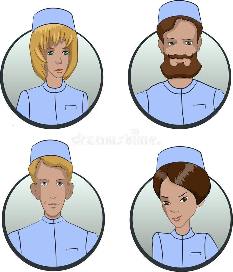 Avatars av personer av olika nationaliteter är multietniska bilder av folk royaltyfri illustrationer