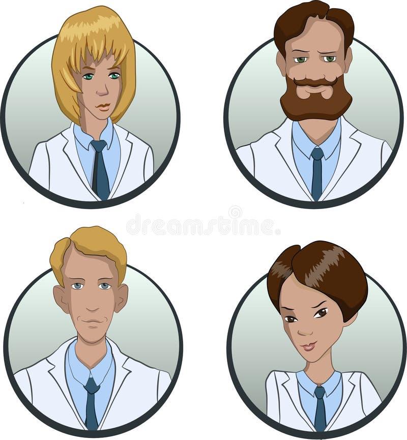 Avatars av personer av olika nationaliteter är multietniska bilder av folk vektor illustrationer