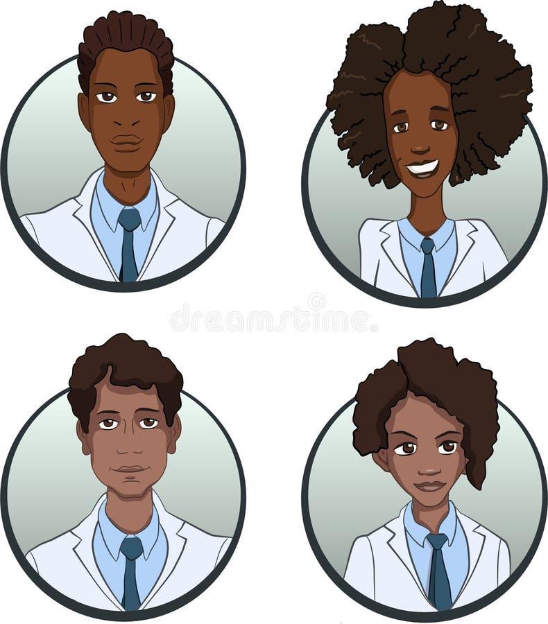 Avatars av personer av olika nationaliteter är multietniska bilder av folk stock illustrationer