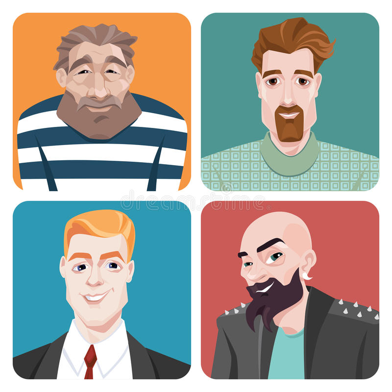 Avatars in cartoon style. vector illustration
