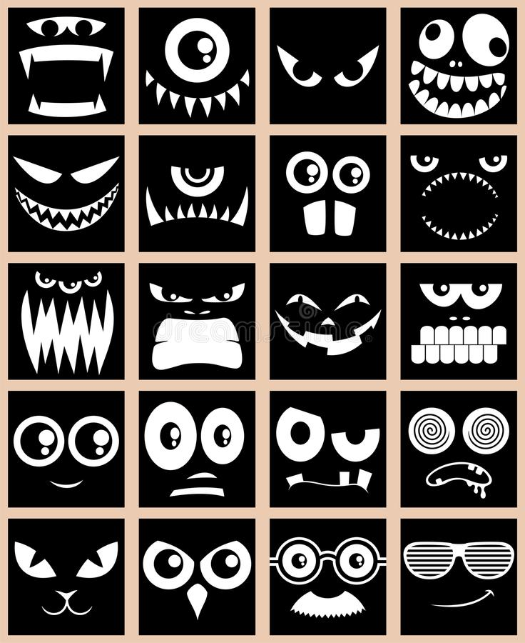 avatars czerń royalty ilustracja