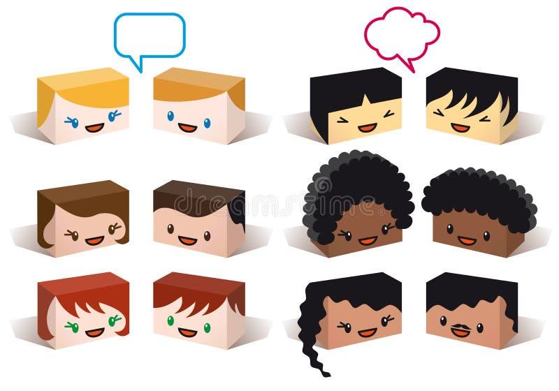 Avatars da diversidade, vetor ilustração royalty free