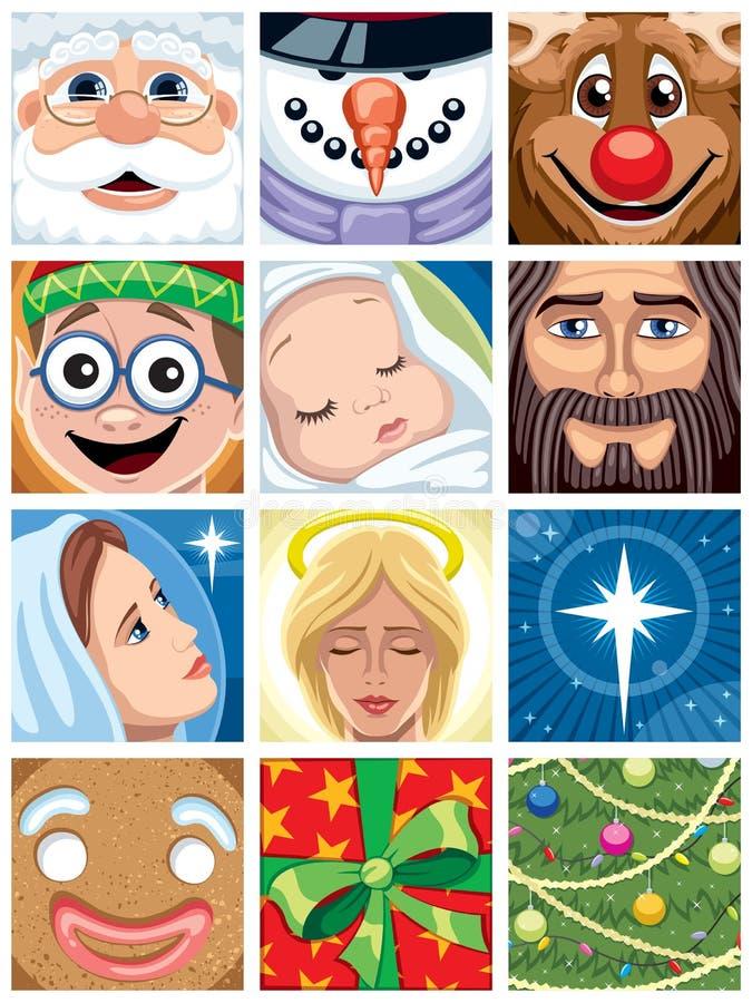 Avatars do Natal ilustração stock