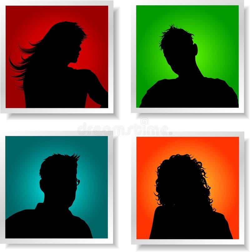 avatars ludzie royalty ilustracja