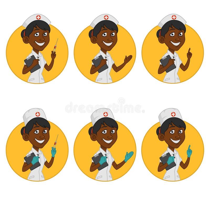 Avatars nurses. Vector nurses. Icons royalty free illustration