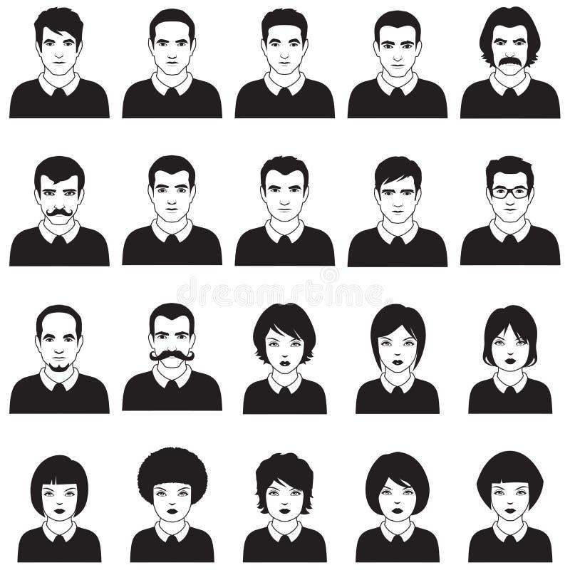 Avatars vector illustration