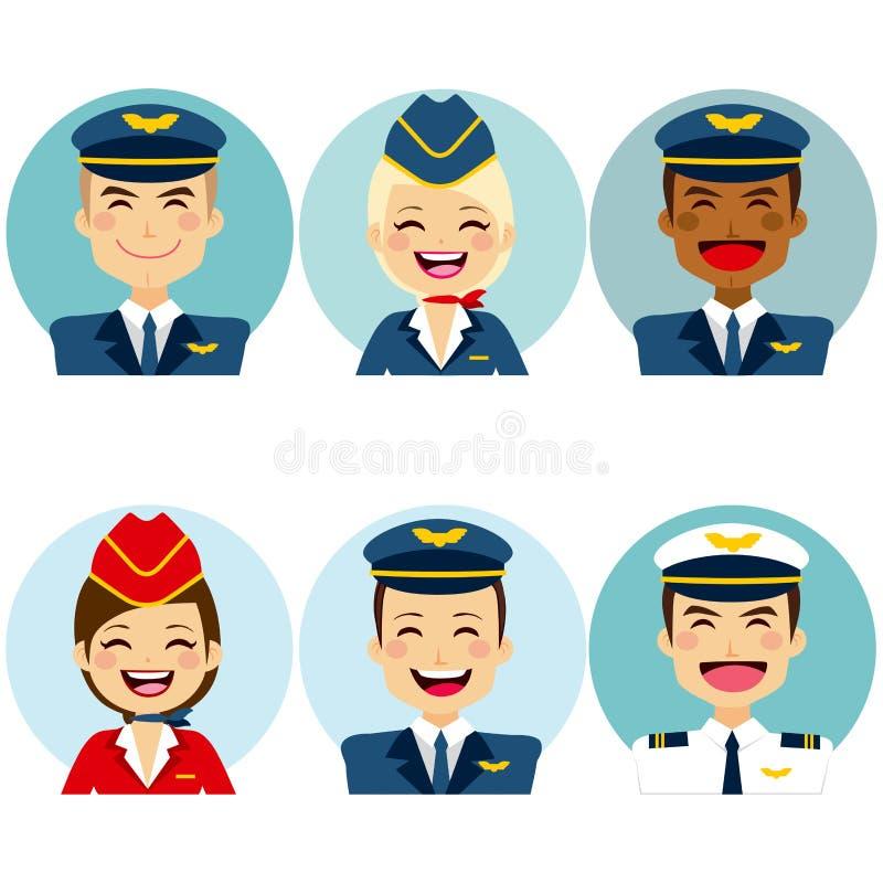 Avatars van de luchtbemanning vector illustratie