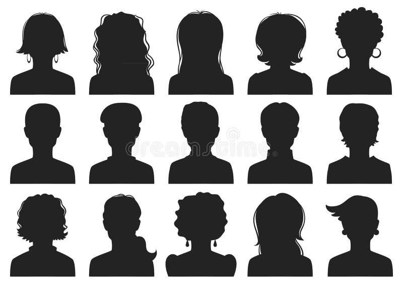 Avatars van de man en van de vrouw vector illustratie