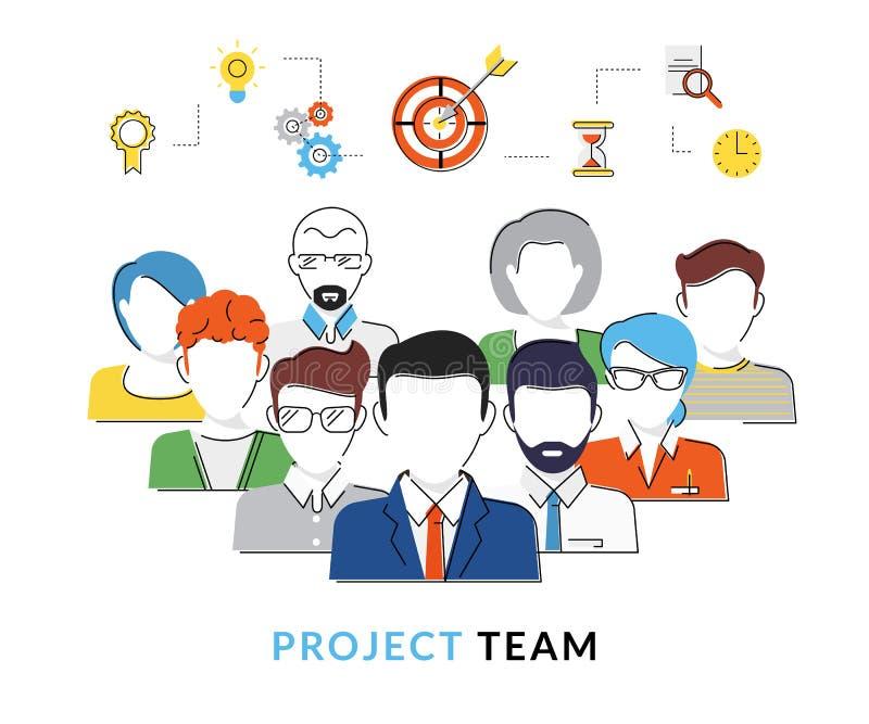 Avatars van het projectteam vector illustratie
