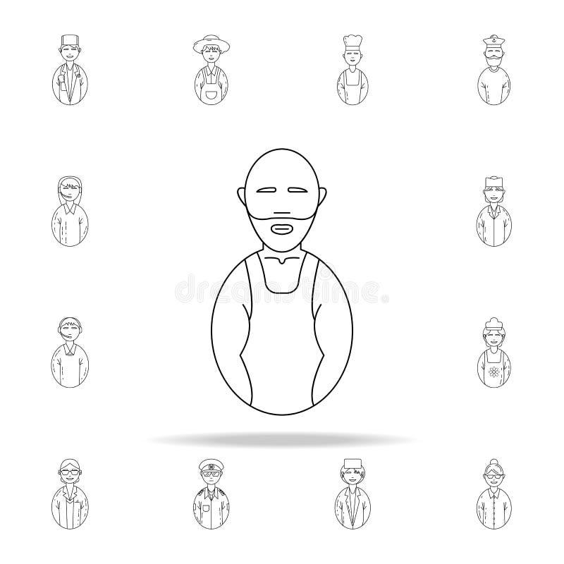 Avatars wrestler icon. Avatars icons universal set for web and mobile. On white background royalty free illustration