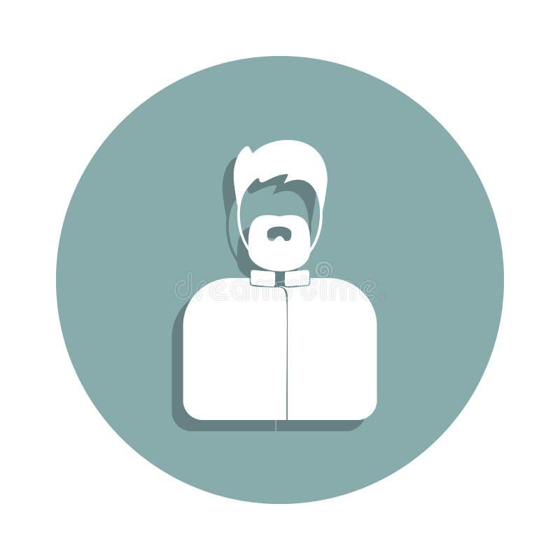 avatarsavatarsymbol i emblemstil En av Avatarssamlingssymbolen kan användas för UI, UX royaltyfri illustrationer