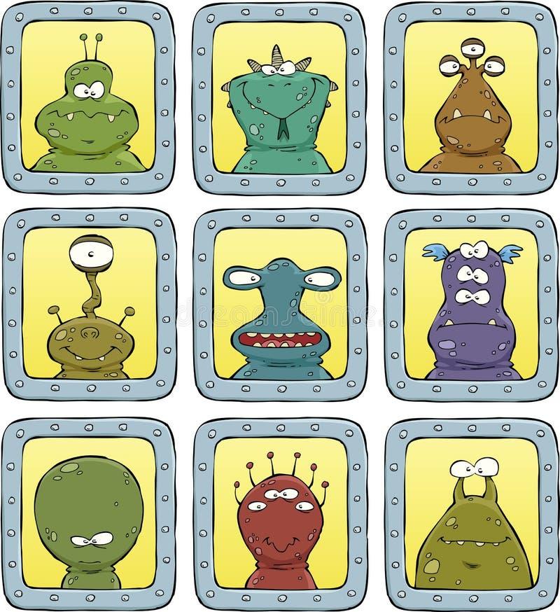 Avatarsfrämlingar stock illustrationer