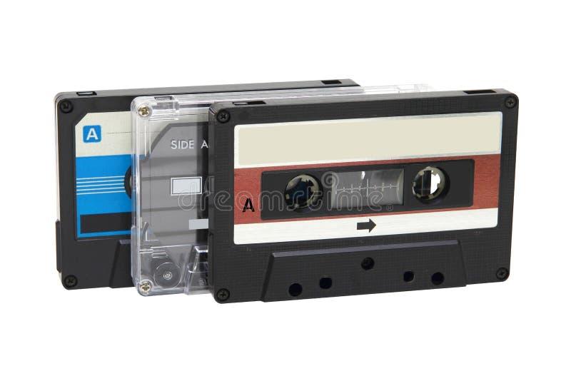 Tejpar kompakt kassett tre royaltyfri fotografi