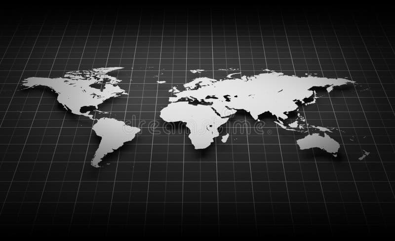 Avbilda av världen kartlägger royaltyfri illustrationer