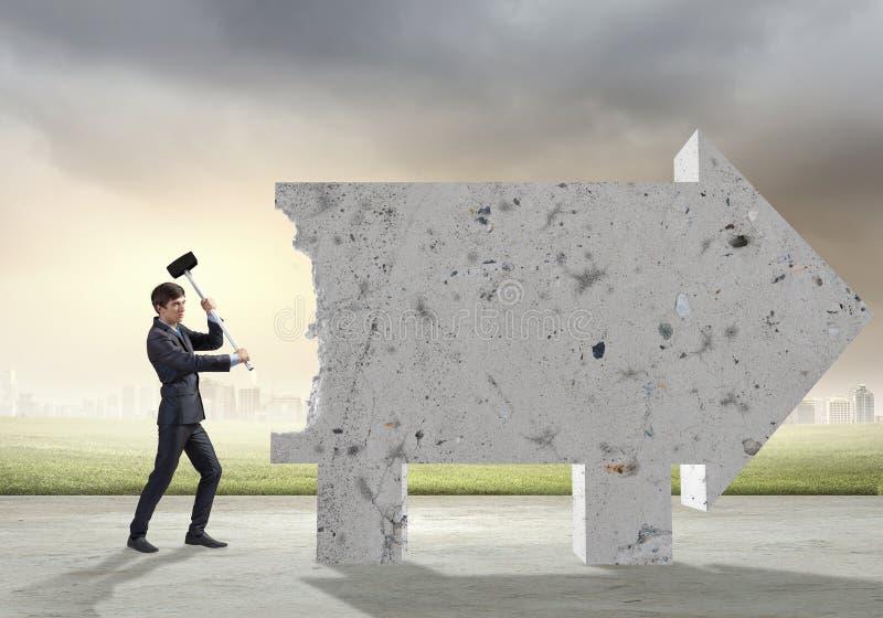 Avbrott av barriärer royaltyfri bild