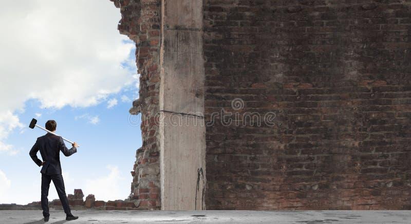 Avbrott av barri royaltyfria foton