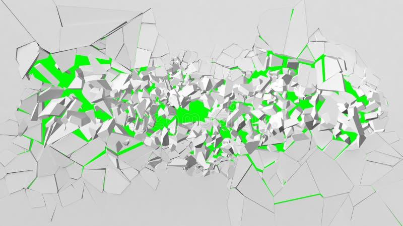 Avbrott av den vita väggen vektor illustrationer