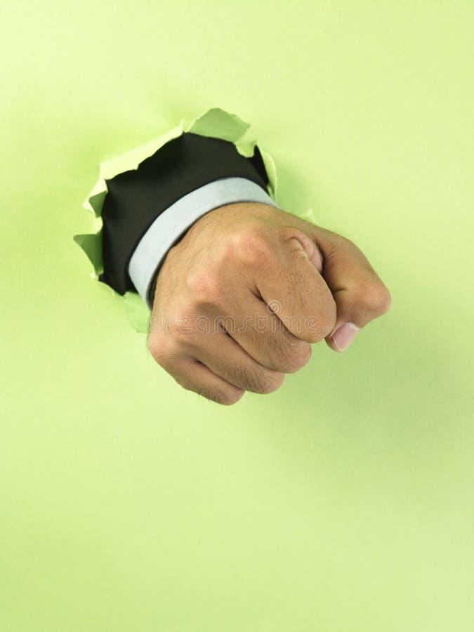 avbrott av handpapper arkivfoton