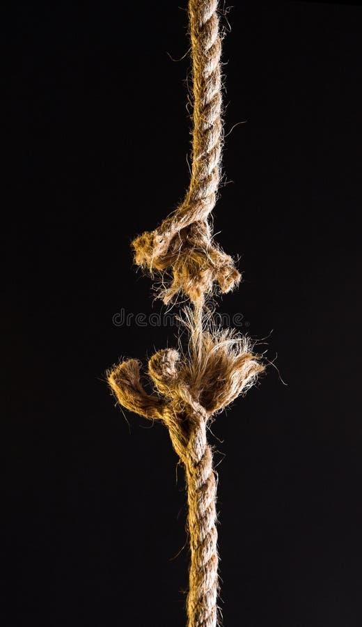 avbrott av repet arkivbilder